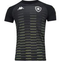 Camisa De Treino Do Botafogo 2019 Kappa - Masculina - Preto