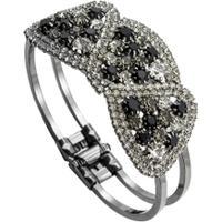 Bracelete Color Com Zircônias Tudo Joias Folheado A Ródio - Feminino-Preto