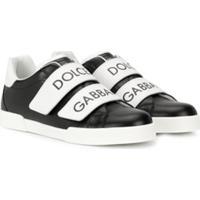 Dolce & Gabbana Kids Tênis Com Velcro - Preto