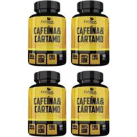 Cafeína E Cártamo - 4X 60 Cápsulas - Katigua Sport - Unissex
