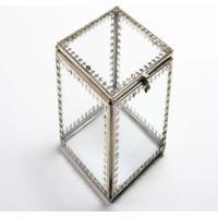 Caixa- Pashmina- Vidro/ Metal- Transparente