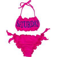 Alberta Ferretti Kids Saturday Print Bikini - Rosa