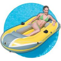 Bote Inflável Deltamax Hydro Force Raft Para 3 Pessoas 1,94X1,10 - Amarelo/Cinza