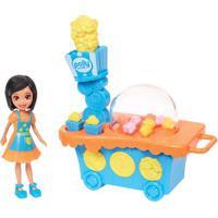 Playset E Mini Boneca Polly Pocket - Carrinho De Pipoca E Crissy - Mattel