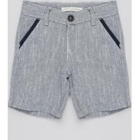 Bermuda Jeans Infantil Com Vivo No Bolso Azul Médio