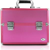 Maleta Profissional De Maquiagem Tamanho Grande Jacki Design Maletas Pink - Kanui