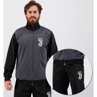 Agasalho Juventus Pierce Chumbo E Preto