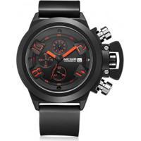 Relógio Megir 2002 Masculino Pulseira Silicone - Preto