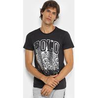 Camiseta Rg 518 Estampa Metalizada Masculina - Masculino-Preto