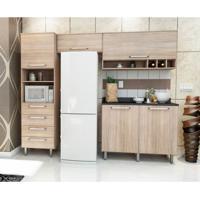 Cozinha Compacta Evolution 5 Pt Carvalho