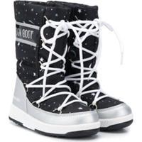 Moon Boot Kids Bota De Neve Com Estampa - Preto