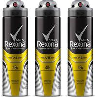 Kit Desodorante Rexona Men V8 48 Horas Aerosol Masculino 150Ml Com 3 Unidades - Masculino-Incolor