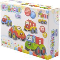 Conjunto De Carrinhos Maral 4105 M-Bricks Cars 52 Peças