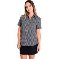 Camisa Pimenta Nany - Feminino-Preto+Branco