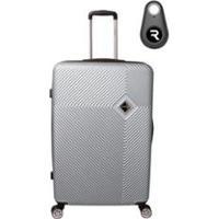 Mala De Bordo Santino 19 Polegadas Com Localizador Bluetooth Reaggio - Unissex-Prata