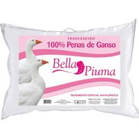 Travesseiro Daune 50X70Cm Pena G Bella Piuma Branco