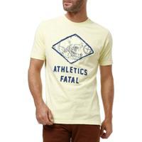 Camiseta Manga Curta Masculina Fatal Amarelo