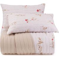 Conjunto De Colcha Floral Malha In Cotton King Size- Braaltenburg