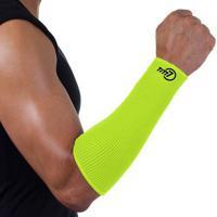 Protetor De Antebraço Para Voleibol Brac7 Curto Amarelo Punho Preto