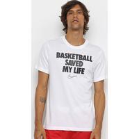 Camiseta Nba Nike Verbia Dri-Fit Fn Masculina - Masculino-Branco