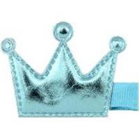 Presilha Bico De Pato Infantil Ania Store Coroa - Feminino-Azul Claro