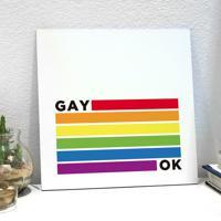 Placa Decorativa - Gay Ok