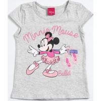 Blusa Infantil Manga Curta Estampa Minnie Disney
