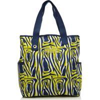 Bolsa Tote Bag Pcf Global Coca-Cola Zebra Bottle Amarelo E Azul