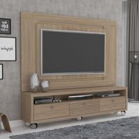 Rack Com Painel Para Tv 55 Polegadas Olimpo Plus 180Cm Acacia