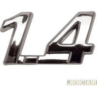 """Letreiro - Alternativo - Palio/Siena/Strada 2005 Até 2007 - """"1.4"""" - Cromado - Cada (Unidade)"""