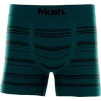 Cueca Boxer Microfibra Sem Costura Masculina - Masculino-Verde Escuro