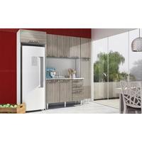 Cozinha Modulada Completa Com 5 Módulos Branco/Fresno - Art In Móveis