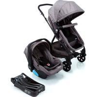 Carrinho Para Bebê Travel System Trio Poppy Cinza Mescla Cosco