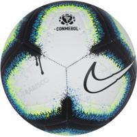 Bola De Futebol De Campo Nike Rabisco Copa América 2019 Strike - Branco/Azul
