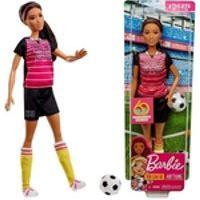 Boneca Barbie Colecionável Profissões Morena Quero Ser Atleta Jogadora De Futebol - Edição Especial 60 Anos - Brinquedo Unissex Criança Ideal Para Menino E Menina - Mattel