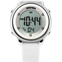 Relógio Infantil Skmei Digital Masculino - Masculino-Branco