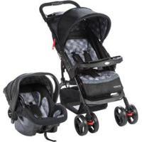 Carrinho De Bebê Com Bebê Conforto Cosco - Unissex-Cinza