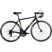 Bicicleta Speed Caloi 10 - Aro 700 - Freio Caliper - Câmbio Traseiro Shimano - 14 Marchas - Preto