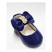 Sapatilha Para Bebê Tico'S Baby Verniz Azul Marinho