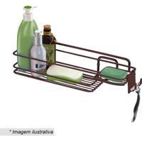 Suporte Para Shampoo & Sabonete- Bronze- 11X39X11,5Cfuture