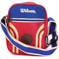 Bolsa Wilson Shoulder Bag Retrô - Unissex-Azul+Vermelho