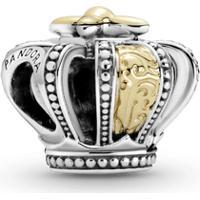 Charm Coroa Real Com Ouro 14K