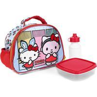 Lancheira Escolar Xeryus Hello Kitty Feminina - Feminino-Azul