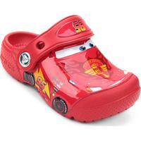 Sandália Crocs Infantil Disney Carros Mcqueen - Masculino-Vermelho