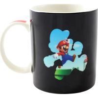 Caneca Magic Super Mario Fase Geek10 Preto