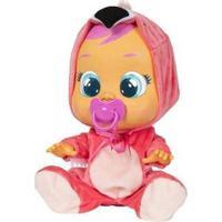 Boneca Flamy Cry Babies Que Chora Com Acessórios - Feminino-Rosa