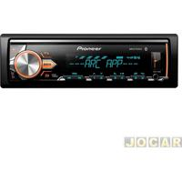 Auto Rádio Mp3 Player - Pioneer - Usb/Wma/Bluetooth/Interface P/Android/Mixtrax/Flashing Light - Cada (Unidade) - Mvh-X3Br