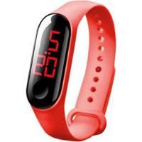 Relógio Orizom Infantil Led Bracelete Rdl86 Masculino - Masculino-Vermelho