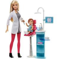Playset E Boneca Barbie - Profissões - Barbie Dentista - Mattel - Feminino-Incolor