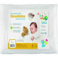 Travesseiro Baby Viscoelástico Antissufocante Fibrasca Branco